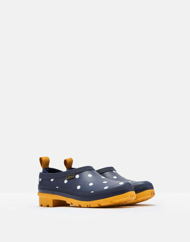 Joules Pop On Black Dog & French Navy Spot Clog
