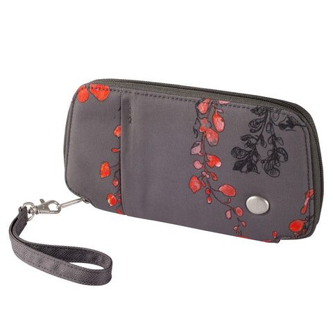 Haiku Fortitude Zip Wallet in Grey Print, Black & Midnight Print