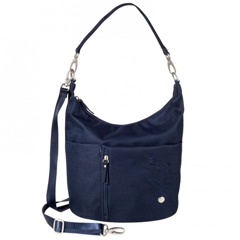 Haiku Ascend Hobo Bag in Black & Midnight