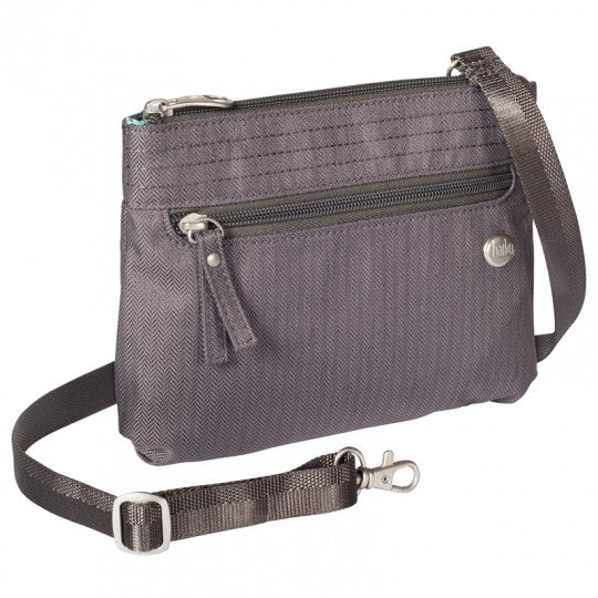 Haiku Impulse Crossbody Travel Bag in Black, Gray & Shale