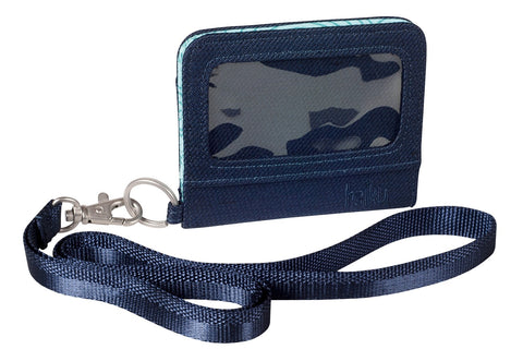 Haiku Access Campus Lanyard Wallet in Black, Navy & Wild Flower