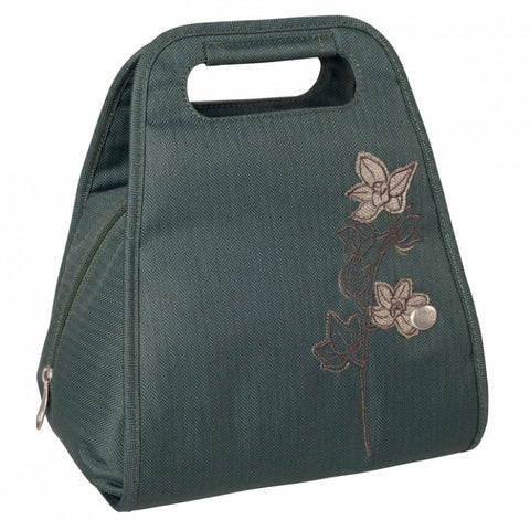 Haiku Repast Lunch Tote Bag in Balsam Green & Grey