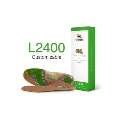 Aetrex L2400 Men's Customizable Med/High Arch Orthotic