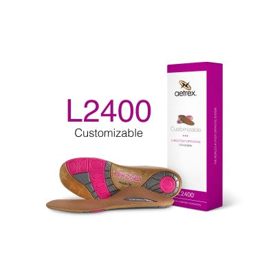 Aetrex L2400 Women's Customizable Med/High Arch Orthotic