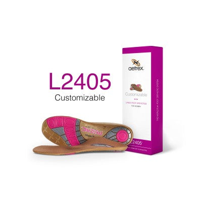 Aetrex L2405 Women's Customizable Med/High Arch W/ Metatarsal Support