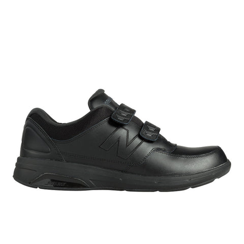 Men's 813 Walking Shoe with Velcro Straps in Black