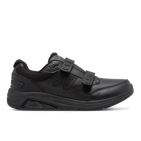 Men's 928 Walking Shoe with Velcro Straps in Black