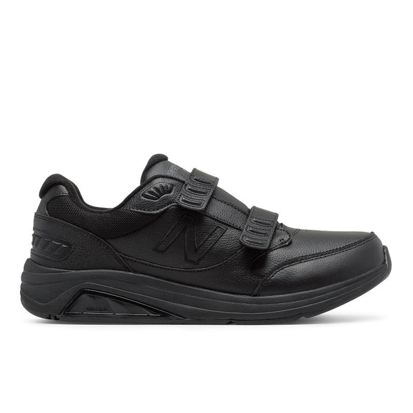 Men's 928 Walking Shoe in Black & White Available in Wide Widths