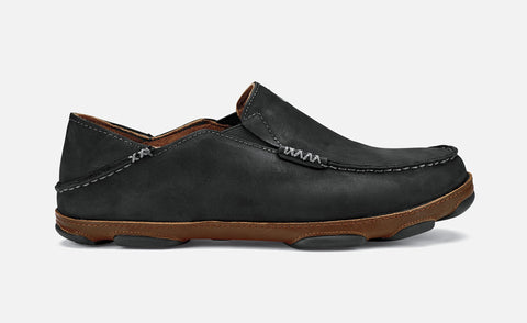 Olukai Moloa in Black & Dark Java