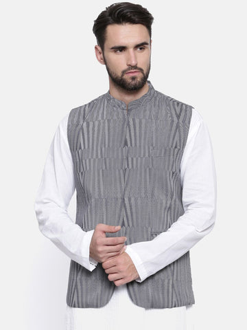 Stripes Linen Modi Jacket - MMWC0121