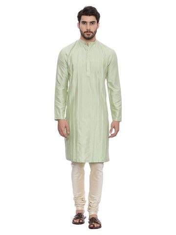 Green Silk Blend Kurta Set - MMK0128