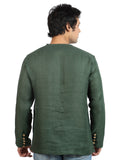 Short Green Kurta - MM0426