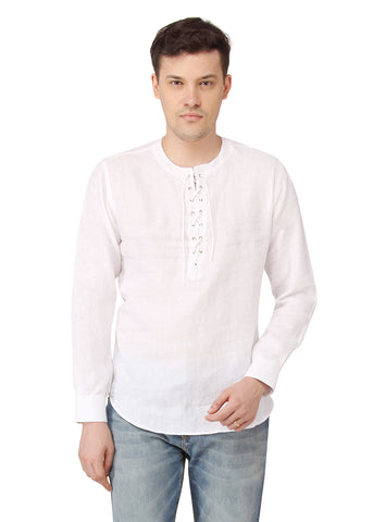 Short White Kurta - MM0598