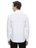 White Detail Linen Shirt - MM0639