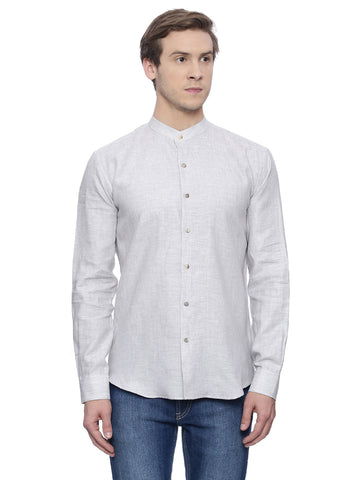 Shaded Grey Linen Shirt - MM0640