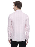 Pink Pleated Linen Shirt - MM0641