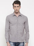 Checkered Linen Grey Shirt - MM0671