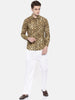 Mustard Printed Linen Shirt - MM0710