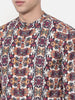 Purple Orange Digital Printed Linen Shirt - MM0714
