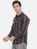 Printed Linen Brown Shirt - MM0731