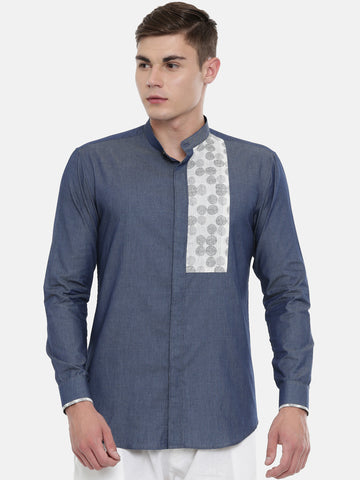 Blue Cotton Shirt  - MM0761
