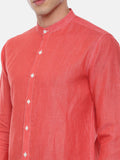 The Perfect Tomator Red Linen Shirt - MM0769