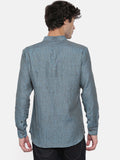 Linen Blue Patch Shirt - MM0779