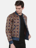 Indian Print Bomber Jacket - MMBJ002