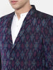 Ikat Weave Silk 2 Button Blazer - MMJ026