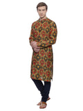 Printed Chanderi Kurta Set- MMK0113