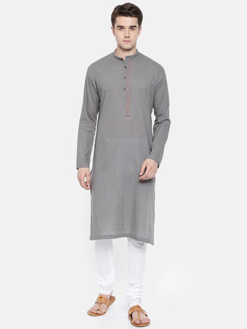 Grey Fine Cotton Kurta Set - MMK0192