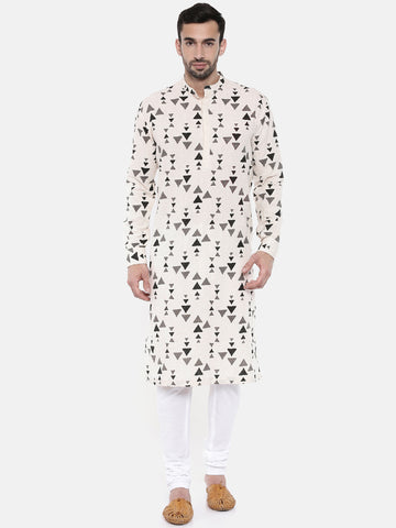 Handloom Cotton Jaquard Printed Kurta Set - MMK0212