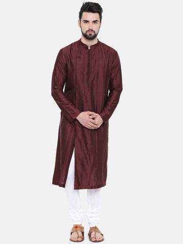 Chocolate Brown Pintucked Kurta Set - MMK0247