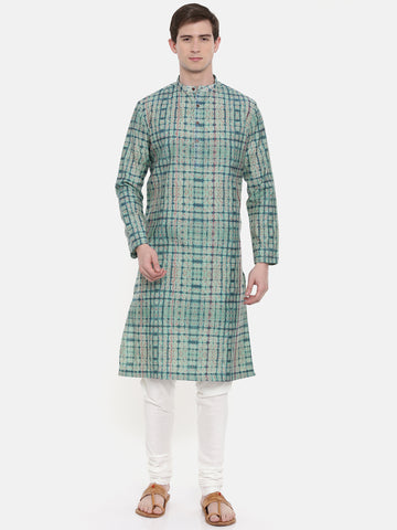 Chanderi Printed Kurta Set  - MMK0278