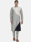 The Trio Cotton Silk Kurta Set   - MMK0317