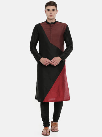 The Trio Cotton Silk Kurta Set   - MMK0318