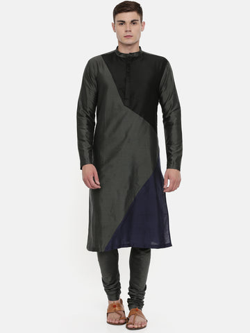 The Trio Cotton Silk Kurta Set   - MMK0324