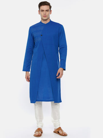 Soft Blue Cotton Kurta Set - MMK0341