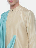 Drape Silk Linen Dual Color Kurta Set - MMK0353