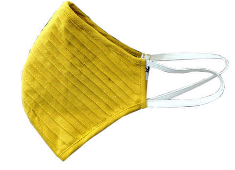Yellow Pintuck Linen Mask - MMMASK031