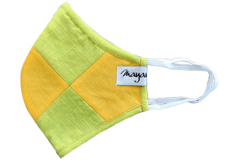 Yellow Green Geomentric Design - MMMASK033