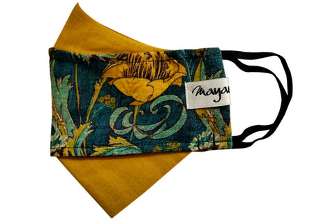 Printed Linen Cotton Double Protection Mask - MMMASK047