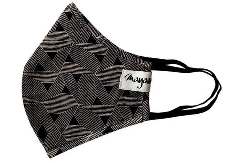 Black Grey Geometric Print  - MMMASK050