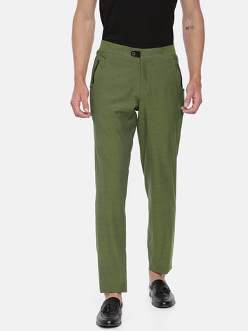 Green Cotton Double Pocket Trousers - MMP058