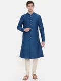 Blue Quilted Sherwani - MMSHR001