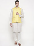 Linen Jaquard Yellow Jacket - MMWC0101
