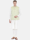 Pastel Green Silk Jacket - MMWC0142