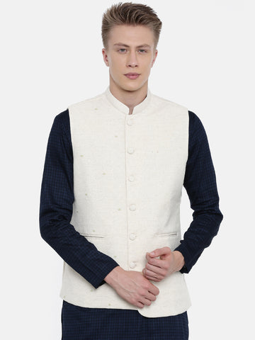 Handwoven Cotton Embroidered Jacket - MMWC0153