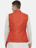 Classic Cut Linen Silk Orange Jacket - MMWC0170