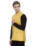 Yellow Linen Modi Jacket - MMWC058